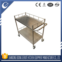 Heat resistant DURABLE CUSTOMIZED cooking two layer trolley cart