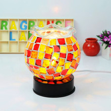 turkish turkey mosaic lamp with oil warmer MA80