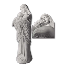 Perfect handmade resin mary and baby jesus statue