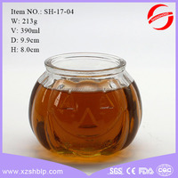 free shipping hot sale glass candle container