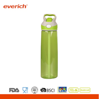 2015 Popular Plastic Sport Water Bottles With Handle Lid
