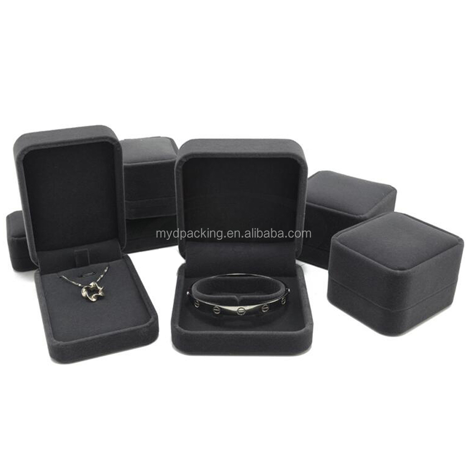 Custom decorative velvet jewelry box