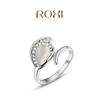 Fashion Roxi Jewelry rings for women 2015 bijoux rose gold Opal leaves wedding Ring
