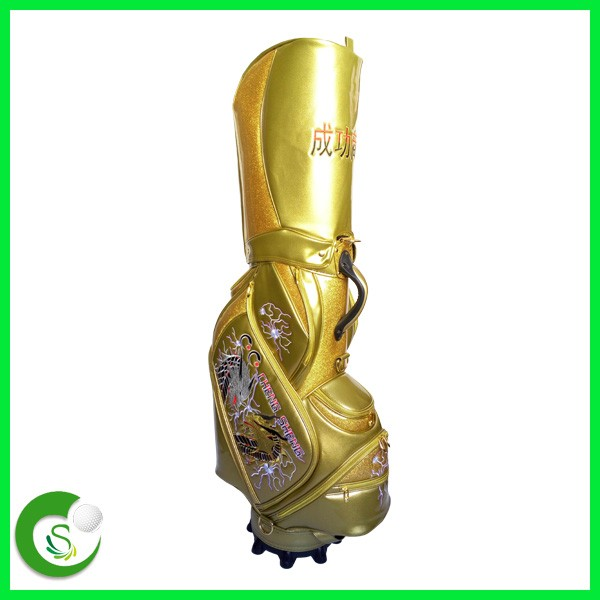 OEM/ODM Custom Leather Golf Bag PU Leather Golf Staff Bag With Factory Price