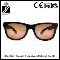 2016 FDA Wholesale Mirrored Lens China Bamboo wooden Sunglasses with Custom Logo
