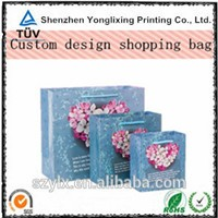 Gift paper bags luxury high quality kraft paper shopping bag
