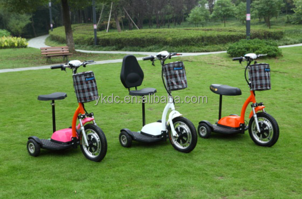 Three Wheel Electric Scooters Adults Tricycle With Basket
