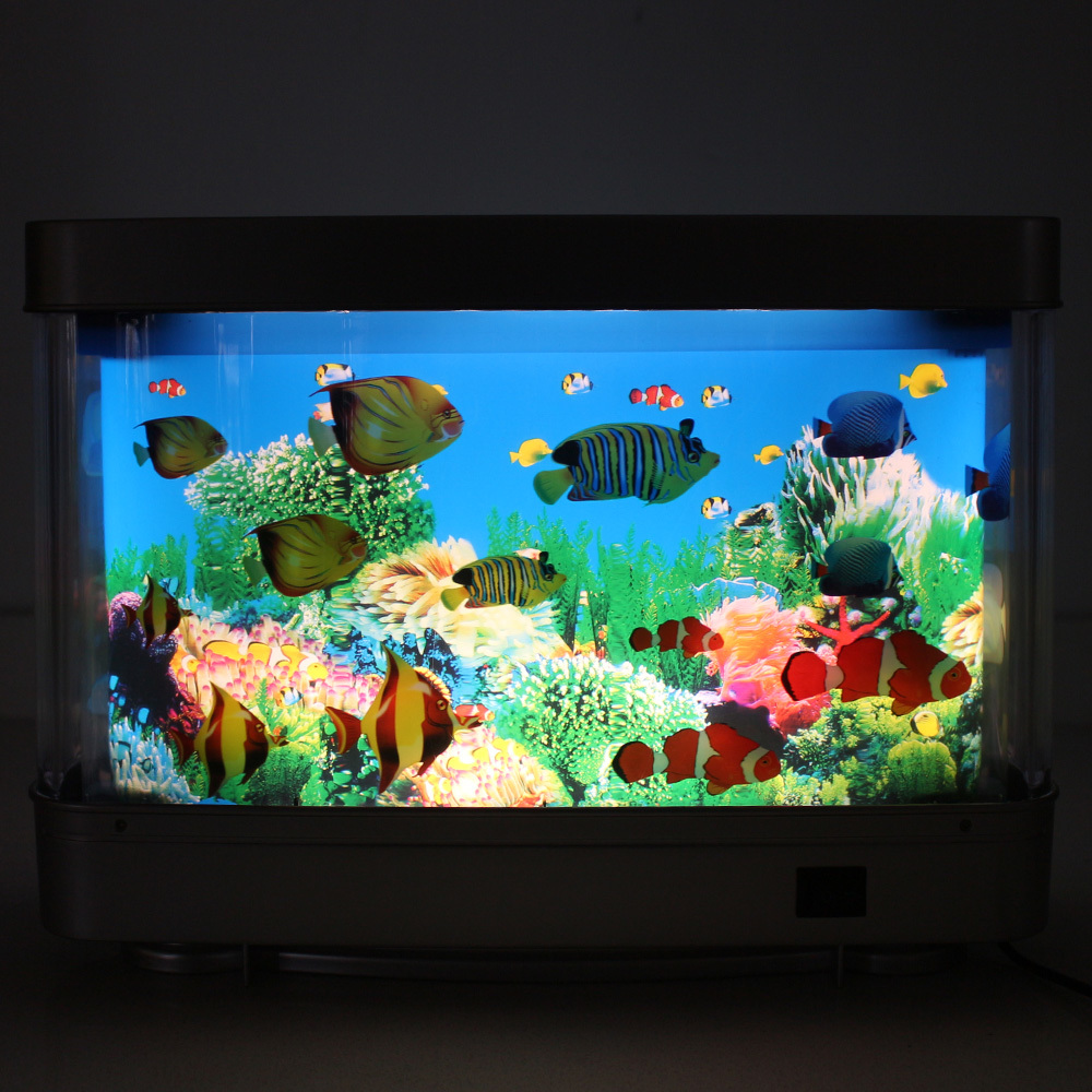 Plastic Aquarium desktop fish light for kids Animated Tropical Fish Marine Aquarium Lamp Night Light Tropical Fantasy