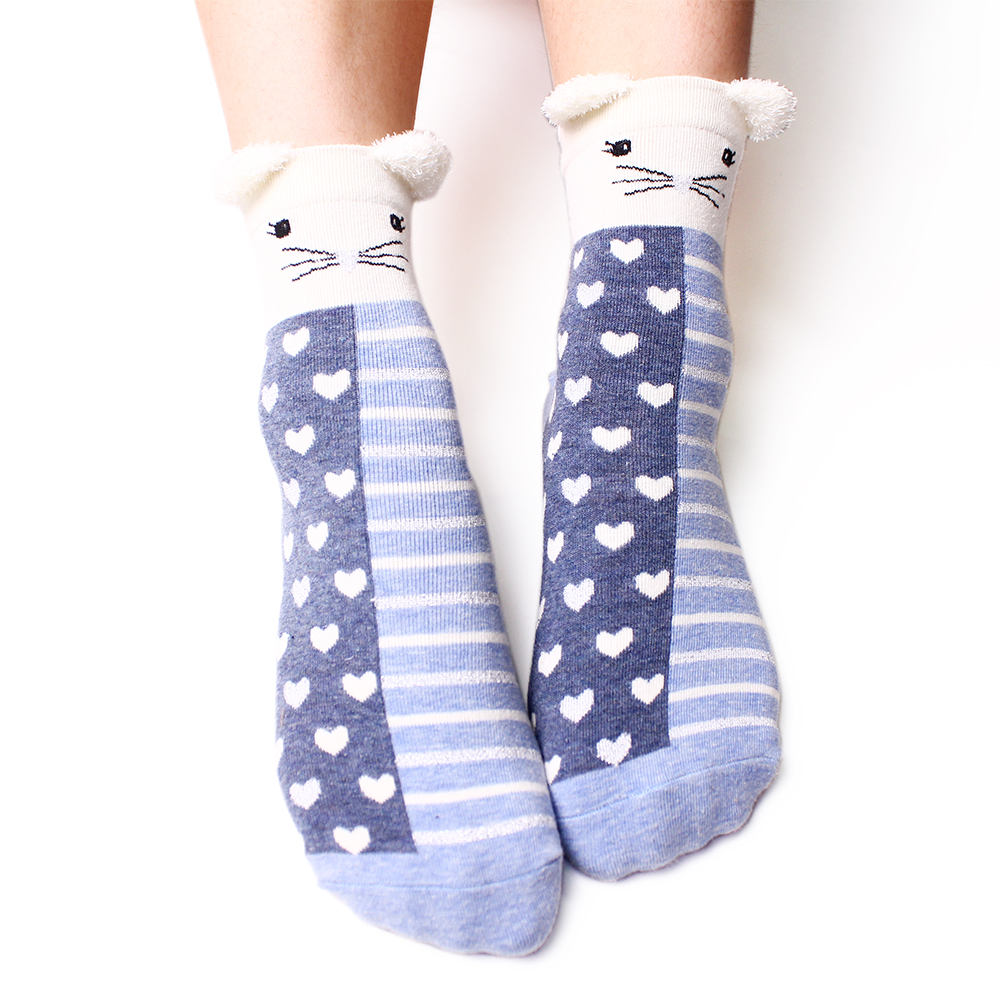 New Style Woman Cartoon Summer Character 100 Cotton Socks