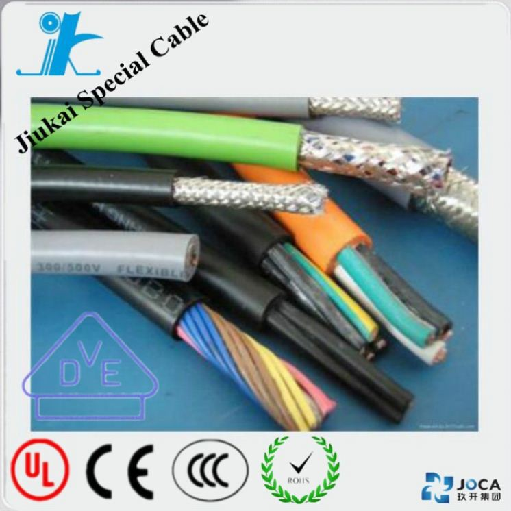 Flexible PUR sheath automatic oil resistant control cables