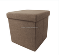 Yarn-dyed Fabric Multiple Colors Square Foldable Storage Stool