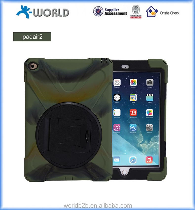 Silicone Plastic Dual Layer Rainproof Sandproof Dust-proof case for Ipad air 2
