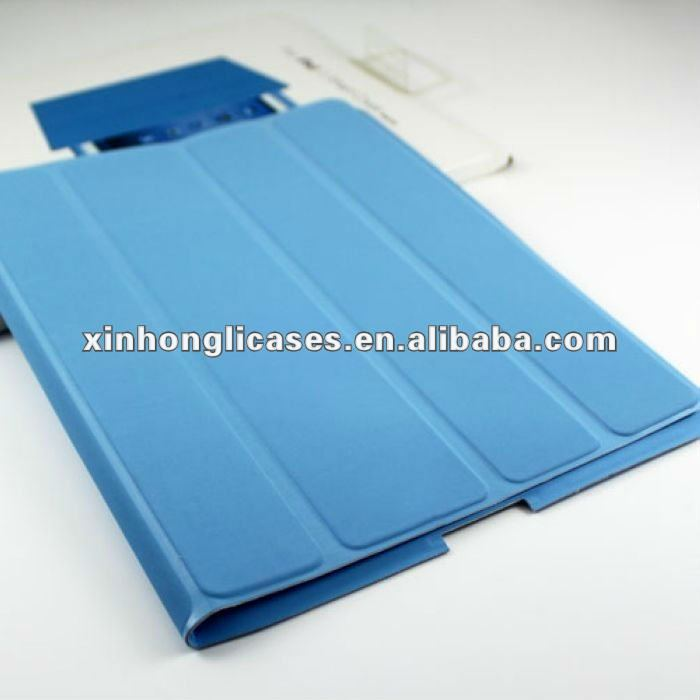 hot!! smart cover in pure color for ipad 2 ipad 3 with new design