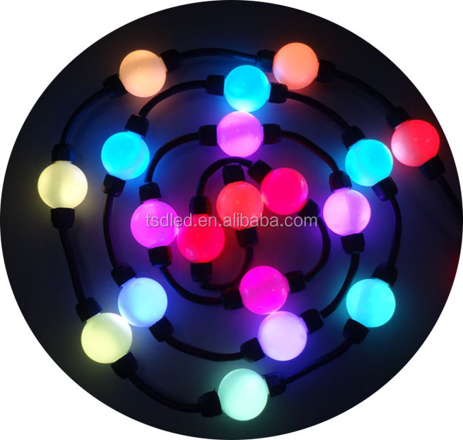 2led crystal magic ball light 32mm 50mm pixel led ball string