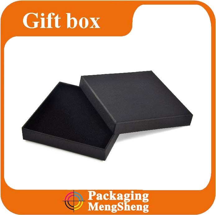 Classic Black Paper Covered Book Shaped Boxes Wholesale Rigid Wallet Gift Boxes