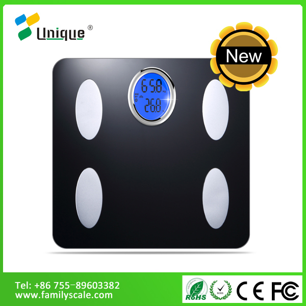 industrial commercial manufacturer automatic lcd hardness glass bath app free body fat analysis scale