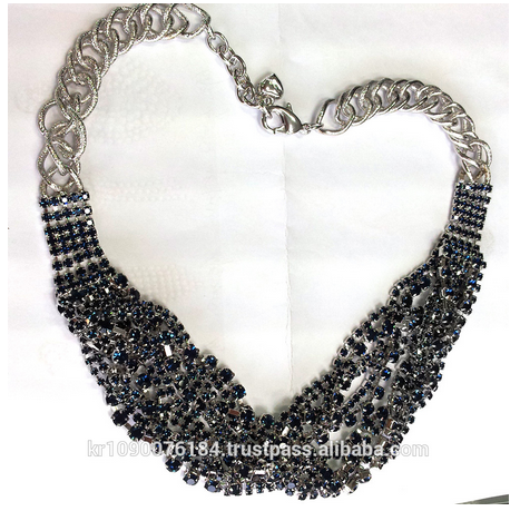 Factory directly wholesale rhinestone fashion women necklaces