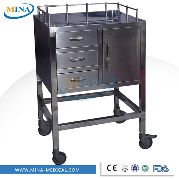 MINA-IT009 hospital medicine dispensing trolley instrument trolley with drawers