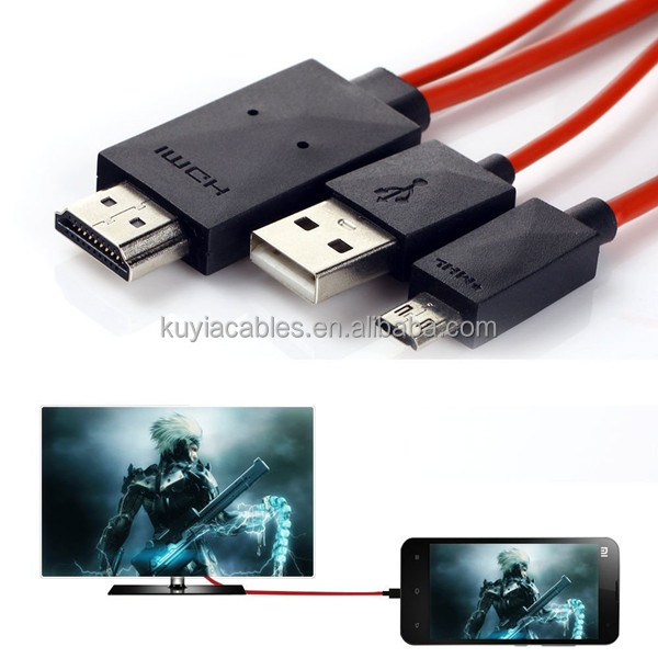 1080P MHL Micro USB to HDMI HDTV ADAPTER CABLE LEAD FOR SAMSUNG GALAXY S4 I9500