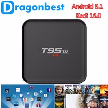 Supermely elegant T95M amlogic S905 quad core google android 5.1 lollipop tv box and 1G 8G