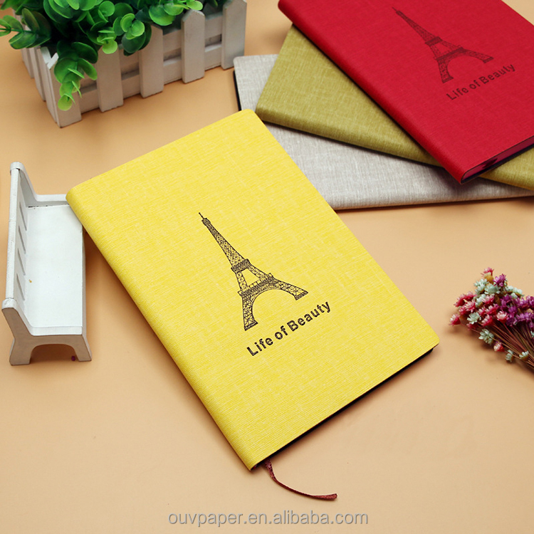High quality denim fabric cover notebook for wholesale