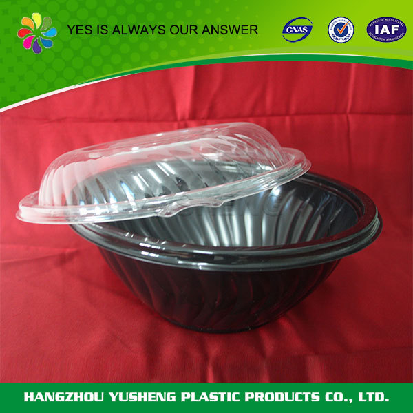 Customize cheap popular disposable plastic salad bowl with lid,salad bowl