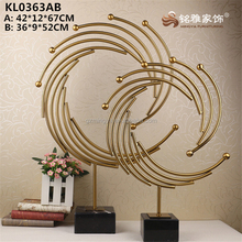 Gold stainless steel other gift items tall metal crafts statue home decor made in China