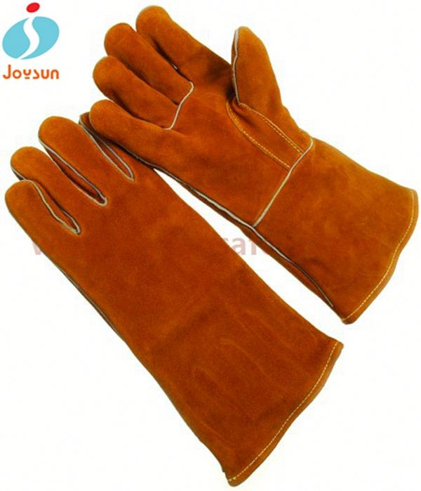 cowhide leather welding gloves reinforced kevlar diving gloves