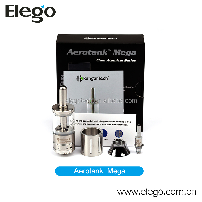 2014 Newest Kanger RBA Mega Aerotank Kit Stainless and Pyrex Material Mini and Mega Version for Selection