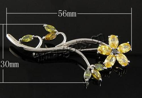 newest fashion 925 sterling silver CZ stones inlaid brooch 546825