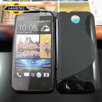 For HTC Desire 300 Gel Back Cover TPU S Line Case