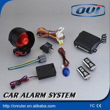 2016 One way cart alarm shock sensors central lock central power door lock car siren alarm