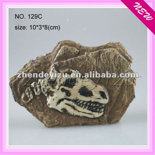 Fossil imitation animals bone fossil made of polyresin decorated aquarium fish tank or reptile pets cage