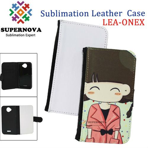 Custom Printed leather wallet case for htc one x