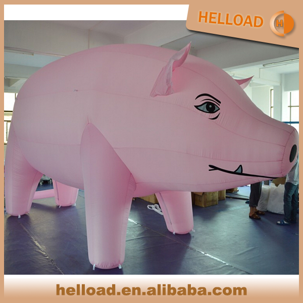 outdoor commercial inflatable floating helium pig balloon for parade