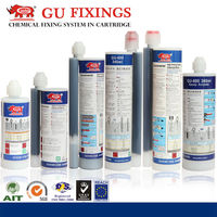Epoxy mortar and chemical sealant for building system adhesive