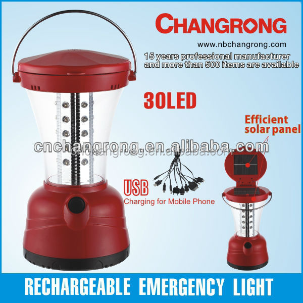 Changrong camping solar lanterns with 30LED light