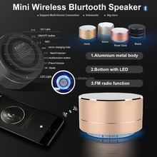 S10 round wireless 3w led portable bluetooth speaker