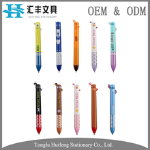 HF003 multi ink color cartoon ear press fast writing ball point pen