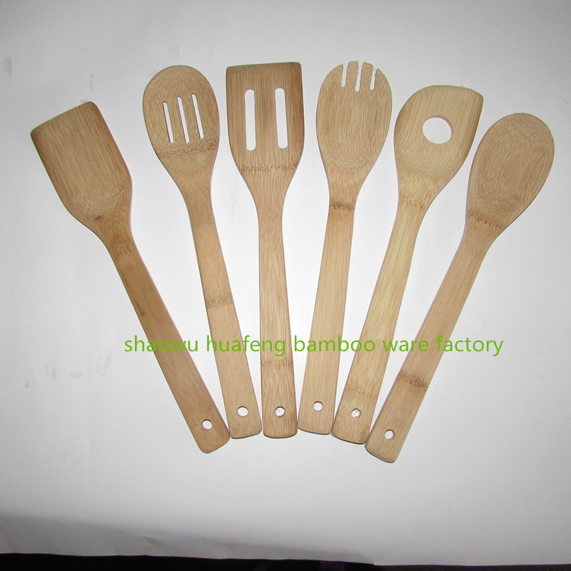 Bamboo kitchen 6 scoop set/best selling items bamboo wooden sets