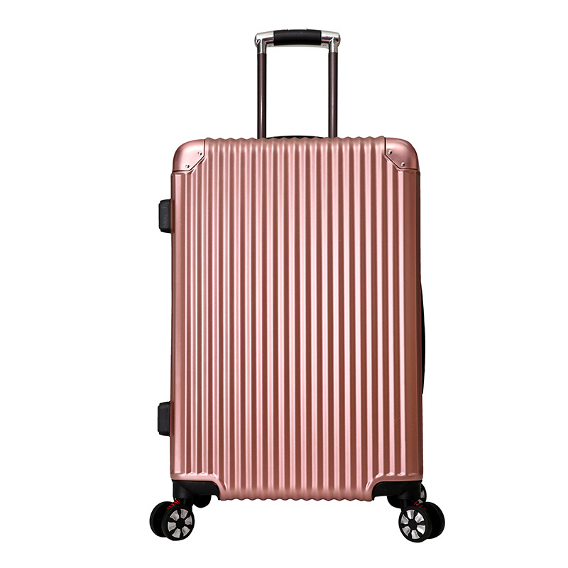 "China cheap 20"" 24"" zipper lock abs trolley luggage bags"
