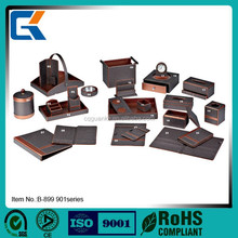 Cheap durable hotel leather product with custom design