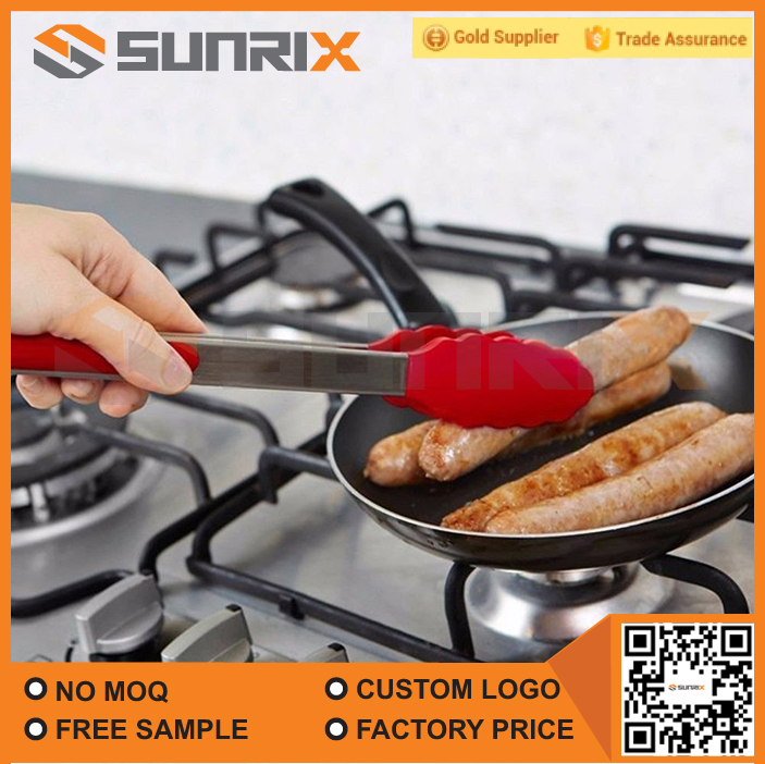 Kitchen Cooking Food Utensil Silicone Serving Tongs