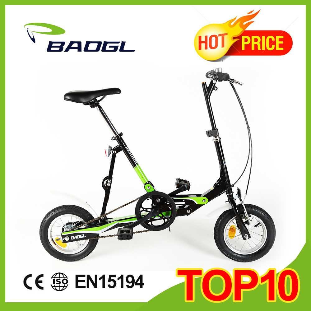 Baogl 12 inch fashion mini folding bike children beach cruiser bike