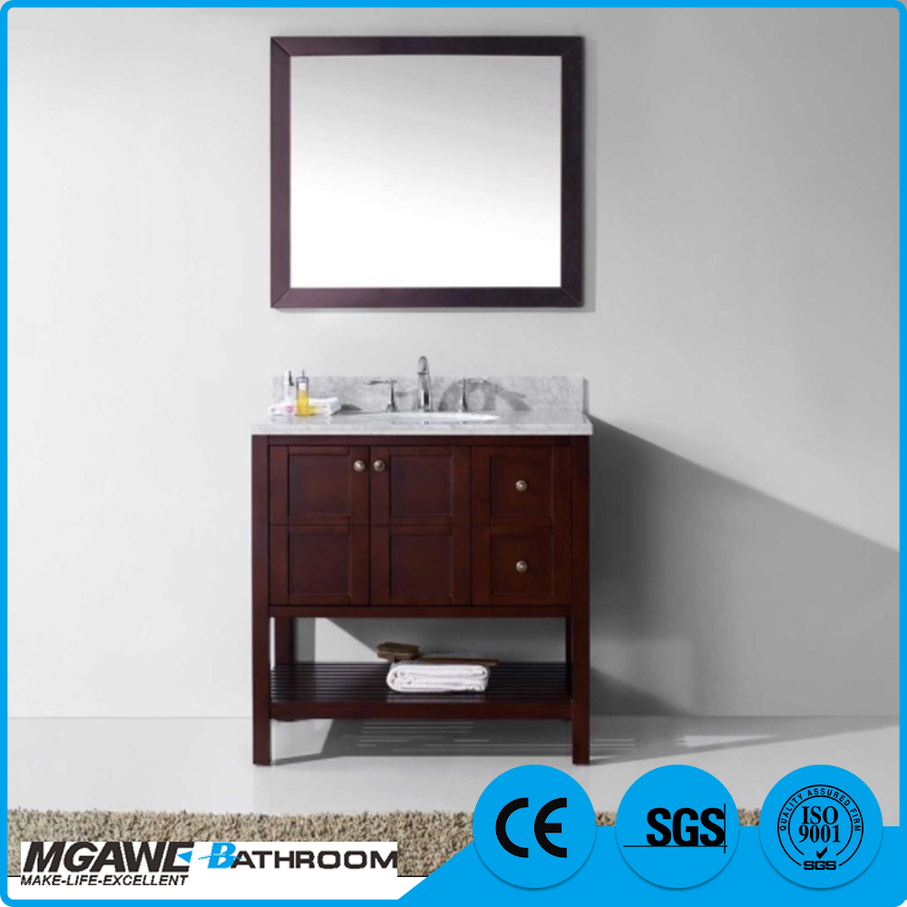 New fashionable stylish cheap bathroom vanity wooden cabinet