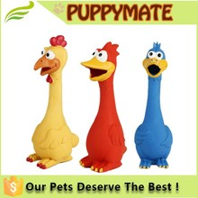 Screaming Rubber Cute Chicken Pet Dog Toy Squeak Squeaker Chew Toy/Children Toys Safe