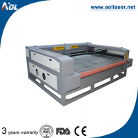 AOL large size leather cloth automatic fabric laser cutting machine