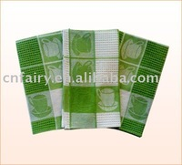 100% cotton tea towel cheap price plenty of designs for promotion towels gifts(Kitchen towels)