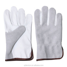 Buffalo leather mechanics glove work garden gloves