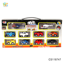 Idea toys mini toys diecast car wholesale alloy car with 2 plane for kids